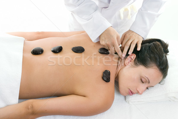 Female receiving a relaxing massage treatment Stock photo © lovleah