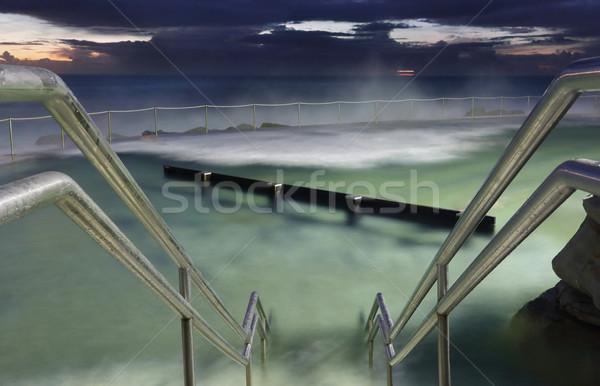 Stock fotó: óceán · medence · tengerpart · Sydney · hullámok · emelkedő