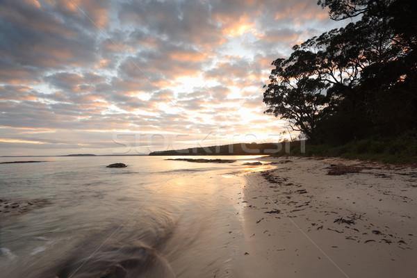 Heiter Morgen Felsen schönen Hochwasser Wasser Stock foto © lovleah