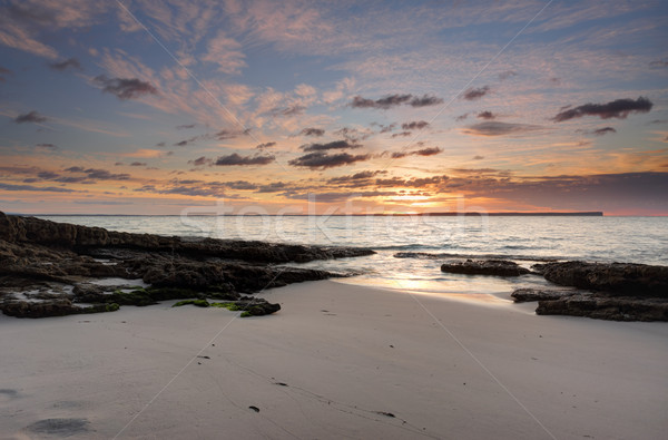 Foto d'archivio: Sunrise · spiaggia · uno · bella · idilliaco · spiagge
