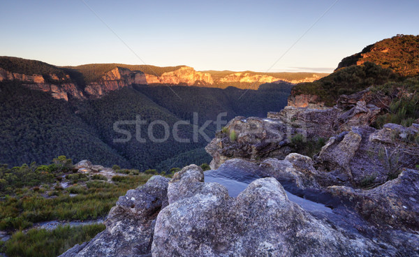 Pierces Pass Blue Mountains Stock photo © lovleah