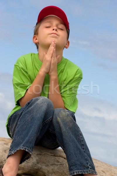 Photo stock: Silencieux · prière · enfant · amour · enfants · garçon