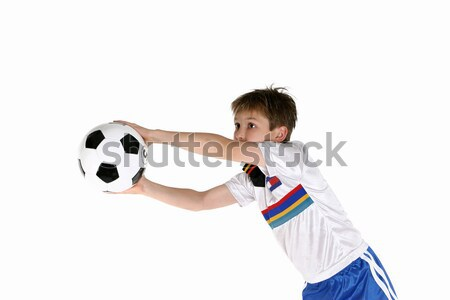 Child playing soccer Stock photo © lovleah