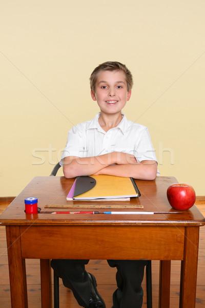Happy school student Stock photo © lovleah