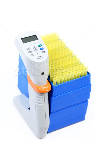 850ul 12 way pipettor and pipet tips Stock photo © lovleah