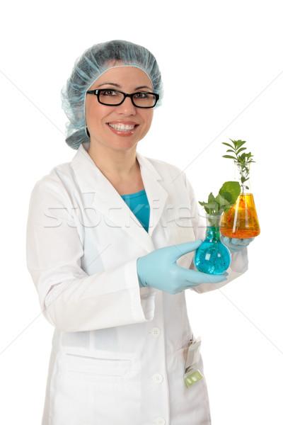 Scientist cultivating plants Stock photo © lovleah