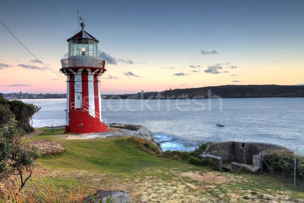 Phare Sydney Australie belle rouge blanche Photo stock © lovleah