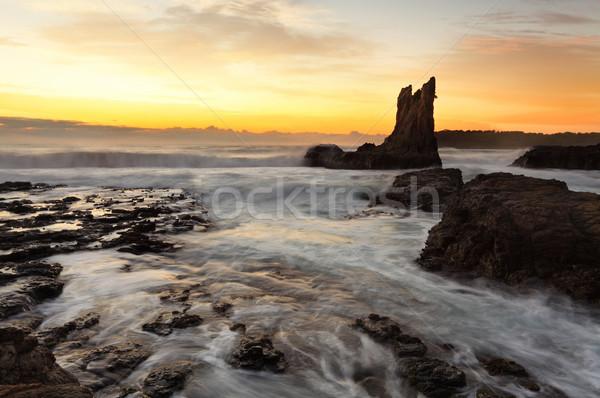 Sunrise Cathedral Rock, South Coast, Australia Stock photo © lovleah
