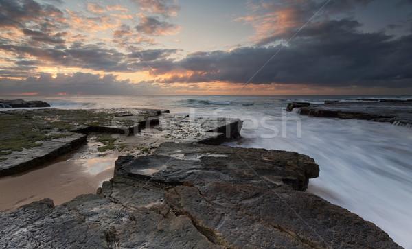 Turrimetta rockshelf Sydney Australia Stock photo © lovleah