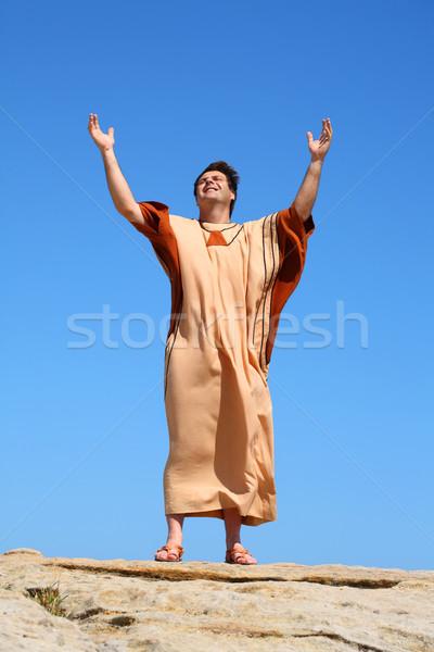 Glória deus paz terra homens bíblia Foto stock © lovleah