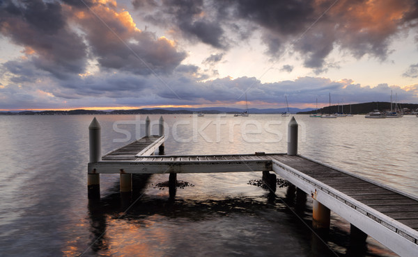 Sunset jetty Stock photo © lovleah