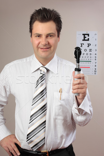 Látásvizsgálat szemorvos szemorvos kész orvos szemek Stock fotó © lovleah