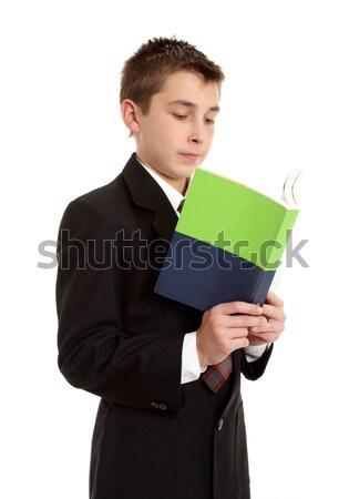 öğrenci okuma lise kitap çocuk Stok fotoğraf © lovleah