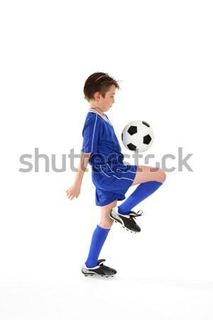 Futball képességek tanul labda irányítás gyakorol Stock fotó © lovleah