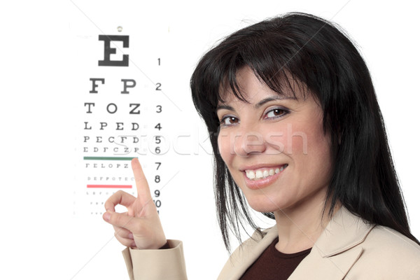 Optometrist with eye chart Stock photo © lovleah