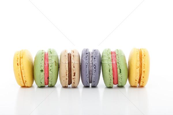 Variedade macarons delicioso em pé Foto stock © lovleah
