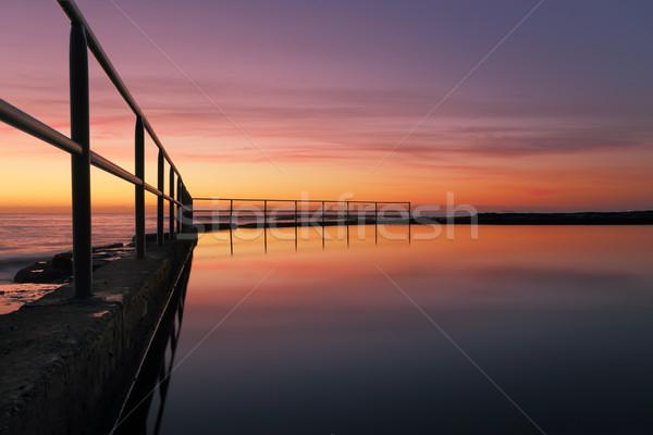 Wombarra Pool Sunrise Stock photo © lovleah