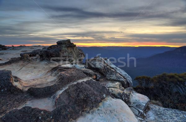 Sunset Wentworth Falls Stock photo © lovleah