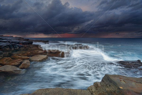 Ocean stormfront Maroubra Stock photo © lovleah