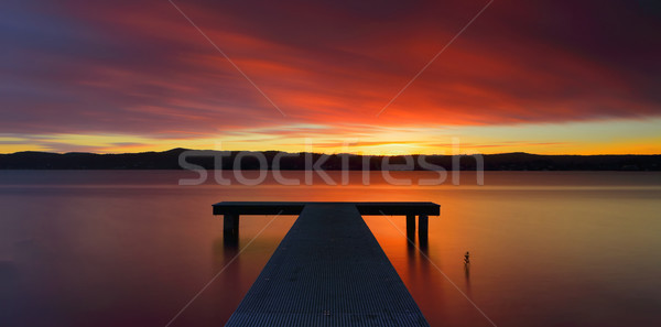 Australiano puesta de sol puestas de sol sol horizonte Foto stock © lovleah
