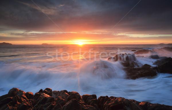 Sunrise skies Port Stephens Stock photo © lovleah