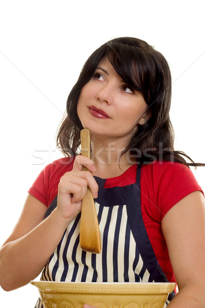 Domestic Help Woman with cooking items Stock photo © lovleah