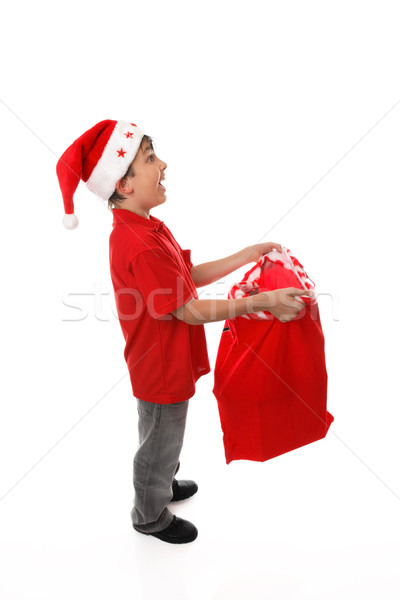 Filling up a santa sack-  add your products concept Stock photo © lovleah