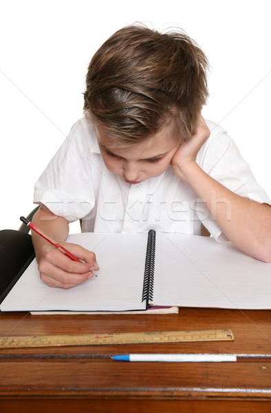 Child doing schoolwork Stock photo © lovleah