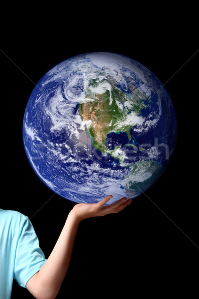 World in the palm of your hands - planet earth Stock photo © lovleah