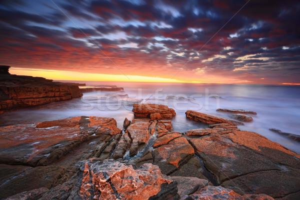 Stunning sunrise at Maroubra Stock photo © lovleah