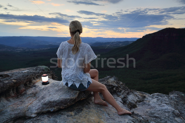 Relaxing views in the Blue Mountains Australia Stock photo © lovleah