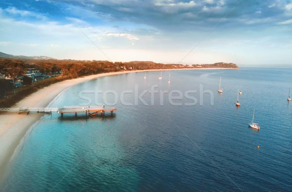 порта первый свет охотник регион пляж Сток-фото © lovleah
