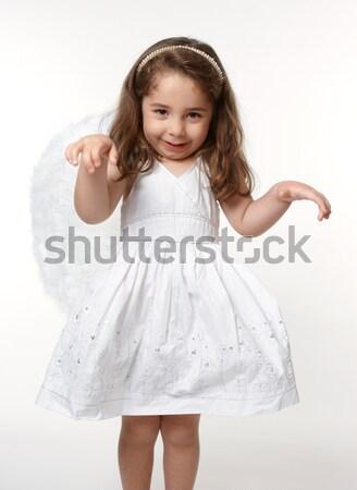Stock fotó: Kicsi · angyal · gyermek · néz · menny · lány