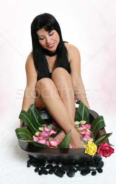 Botanical foot bath Stock photo © lovleah