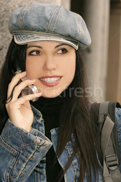 Girl Talking Cell phone Stock photo © lovleah