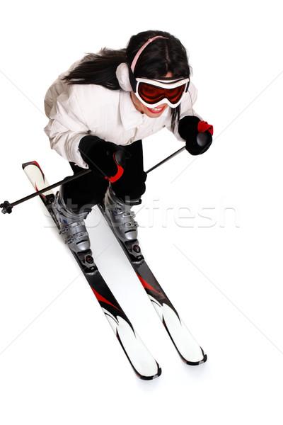 Female Skiing Stock photo © lovleah