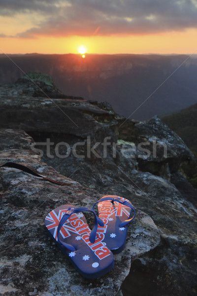 Aussie thongs in the sunset Stock photo © lovleah