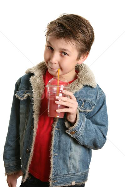 Drinken goede gezondheid kind drinken sap Stockfoto © lovleah
