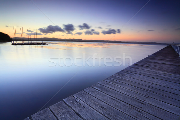 Long Jetty Australia at Dusk Stock photo © lovleah
