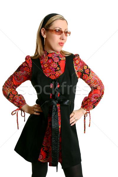Pretty Paisley Girl Fashion Stock photo © lovleah