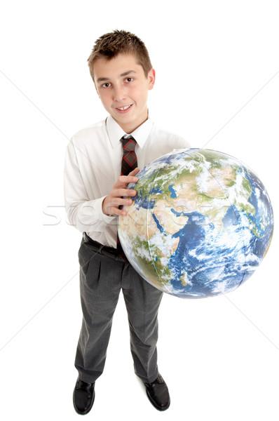 школы студент Мир рук земле Сток-фото © lovleah