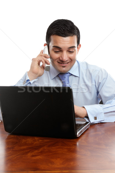Businessman discussion on telephone Stock photo © lovleah