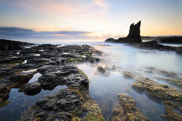 Pillars of Earth Cathedral Rock, Kiama Stock photo © lovleah