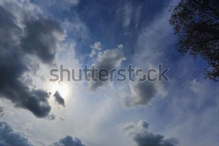 Sun shining through light cloud summer blue sky Australia Stock photo © lovleah
