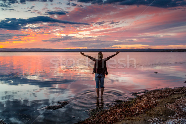 When the sky turns a glorious red you go Wow Stock photo © lovleah