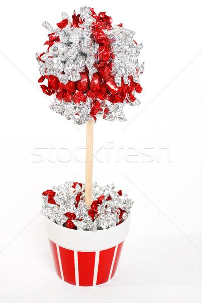 árvore prata vermelho acima Foto stock © lovleah