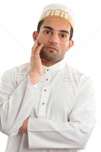 Arab man thinking Stock photo © lovleah