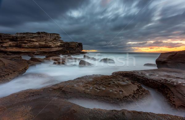 Punkt sceniczny długi czas ekspozycji pejzaż morski Australia drugi Zdjęcia stock © lovleah