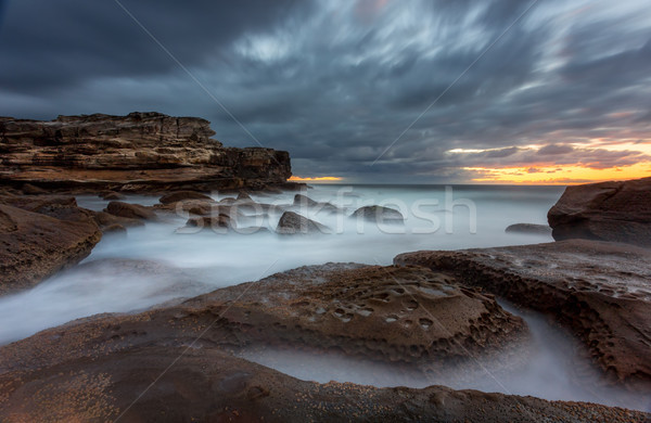Potter Point scenic long exposure seascape Australia Stock photo © lovleah