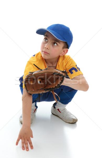 Little boy in baseball T-ball gear Stock photo © lovleah